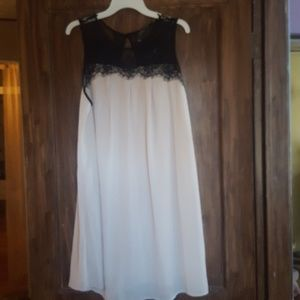 Mlle gabrelle Black Lace and Cream Ivory Dress